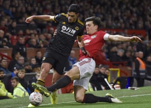 Jimenez, tackled by Maguire.