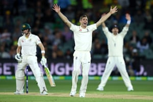 Chris Woakes of England successfully appeals for lbw to dismiss Steve Smith of Australia.