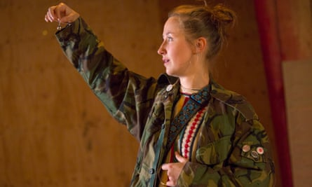 Erin Doherty in My Name Is Rachel Corrie at the Young Vic.
