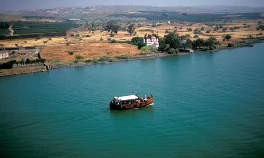 The Sea of Galilee in Israel.