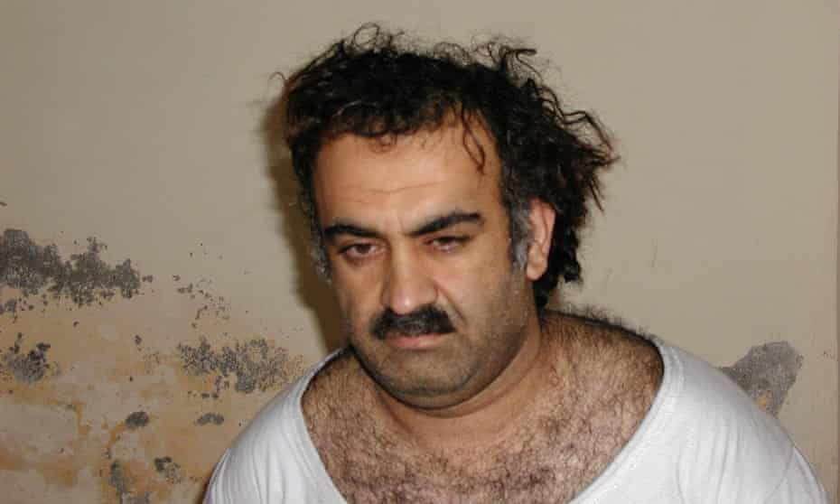 Khalid Sheikh Mohammed after his capture in Rawalpindi, March 2003