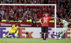 Ryan Christie scores for Celtic at Rennes