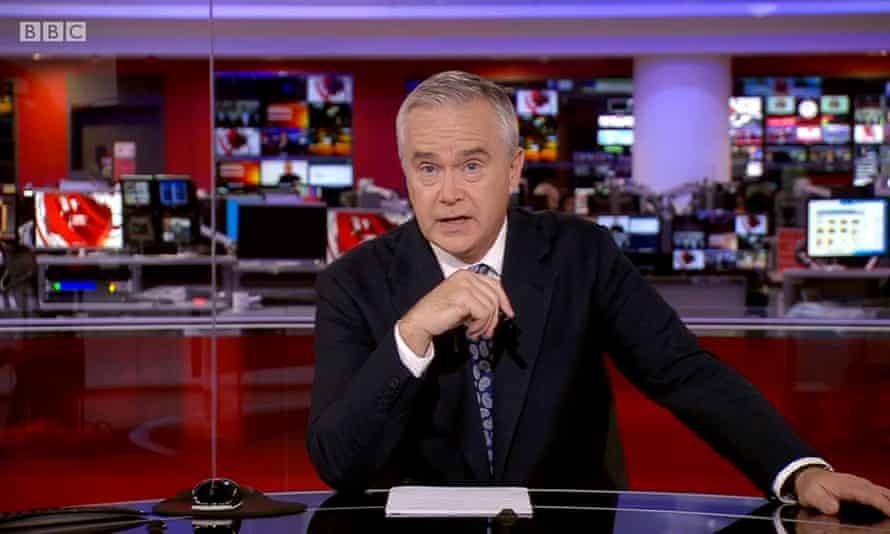 Huw Edwards reading News at Ten