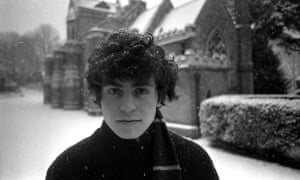 Marc Bolan in Highgate cemetery, north London.