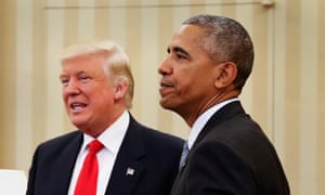 Barack Obama meets Donald Trump in the Oval Office of the White House, November 2016