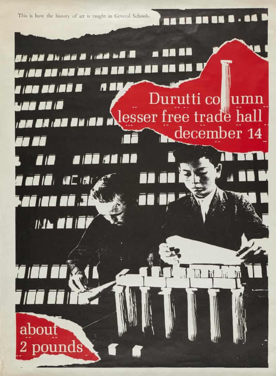 Durutti Column poster, Jon Savage, 1980.