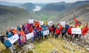 Songs on the Summits. The 60-strong choir marked a centenary since the end of the first world war.