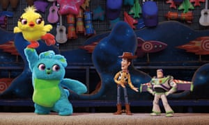 New faces Ducky and Bunny with old hands Woody and Buzz in Toy Story 4.