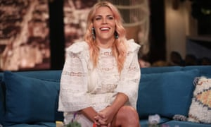 Busy Philipps on the set of Busy Tonight.