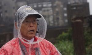 Tomoji Kobata, a former Gunkanjima resident who now guides tourists around the island.