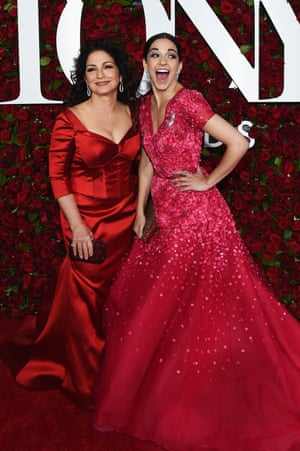 Singer Gloria Estefan with the actor who played her on Broadway, Ana Villafañe