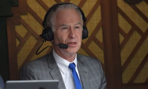 John McEnroe reporting from Centre Court in the 2017 championships, during which he earned in the BBC's pay bracket of £155,000-£200,000. Martina Navratilova earned £15,000.