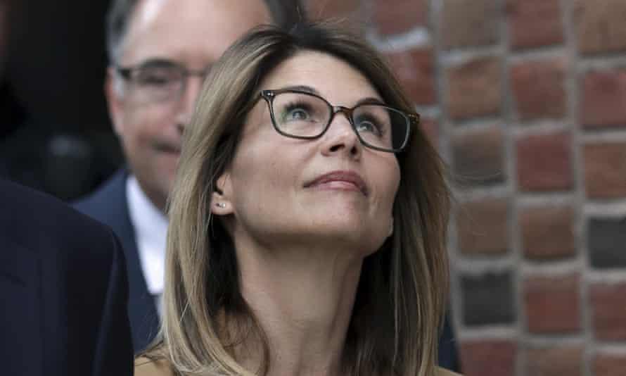 Lori Loughlin departs federal court in Boston last week.
