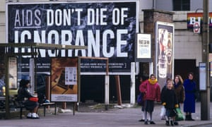 Aids – Don't Die of Ignorance poster in 1987.