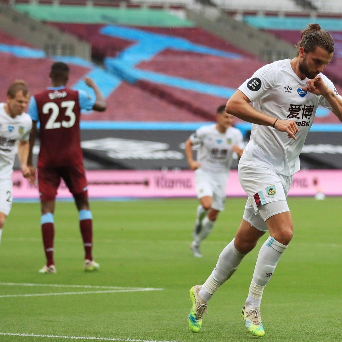 West Ham 0 1 Burnley Premier League As It Happened Football The Guardian