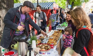 Market day in Helsinki: Finland became Europe's first national government to undertake a basic income experiment.