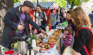 Helsinki Restaurant Day, a traditional street food festival in Finland, which again topped the world happiness index.