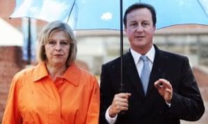 David Cameron and Theresa May in 2009.