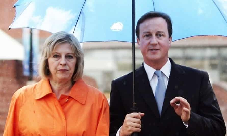 Theresa May with David Cameron at the Conservative Party conference in 2009.