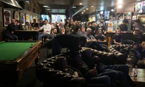 Bulloch Bar in central Wanaka during the England v New Zealand Rugby World Cup semi-final on 26/10/2019