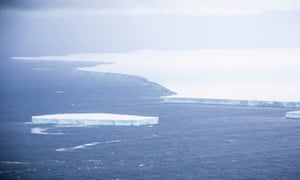A view of the A-68A iceberg from an RAF reconnaissance plane last month.