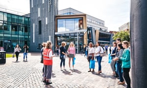 Sheffield University says the pandemic has not put students off going to university. Photograph: Lee Brown/The Guardian