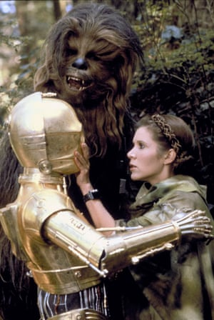 Anthony Daniels, Peter Mayhew & Carrie Fisher in Star Wars: Episode Vi - Return Of The Jedi (USA 1983)