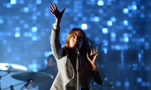 Reach for the stars … Florence + the Machine headline the Pyramid stage.