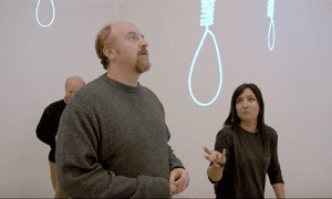 Letting it all hang out … Louis CK and Pamela Adlon in Louie