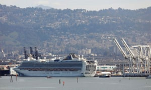 The Grand Princess cruise ship, carrying 3,500 people.