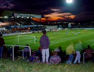 #10 Sunset Over Springfield Park Wigan Athletic v Bolton Wanderers 1990