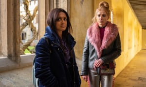 Friends forever? Nas (Amy-Leigh Hickman) and Missy (Poppy Lee Friar) in Ackley Bridge.