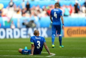 Martin Skrtel dejected after Robson-Kanu's goal.