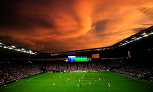 Sporting Park at sunset.