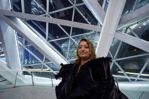 Hadid at her Guangzhou Opera House in China.