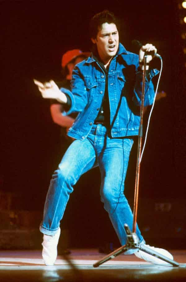 Shakin' Stevens on stage in 1982.