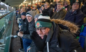 Ealing supporters watch their team win against Bedford