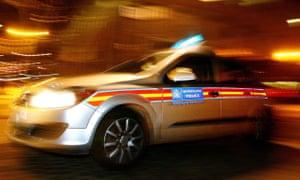 A Metropolitan police car