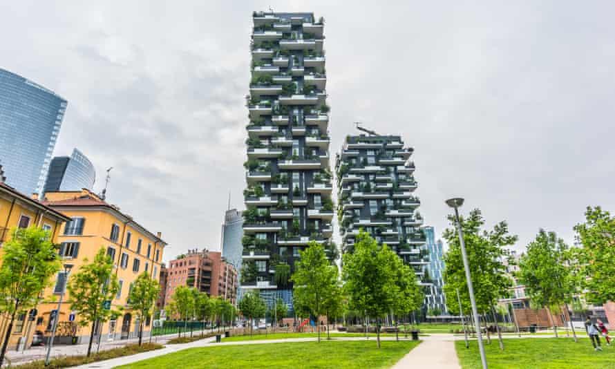 Bosco verticale in Milan.