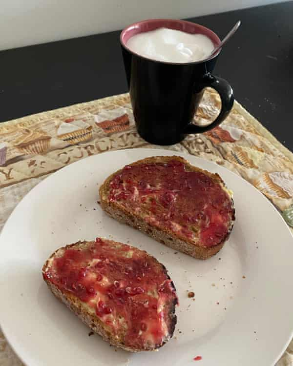 The 'slow' breakfast of jam, toast and coffee that Sara Carillo has been eating every day for many years.