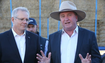 Scott Morrison with his drought envoy Barnaby Joyce