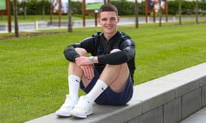 Declan Rice at England's St George's Park training base where he has been one of the early arrivals in the run-up to the Nations League finals.