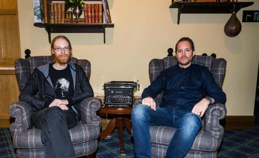 Gentlemen's club … Jens Bergensten, left, and Jonas Mårtensson