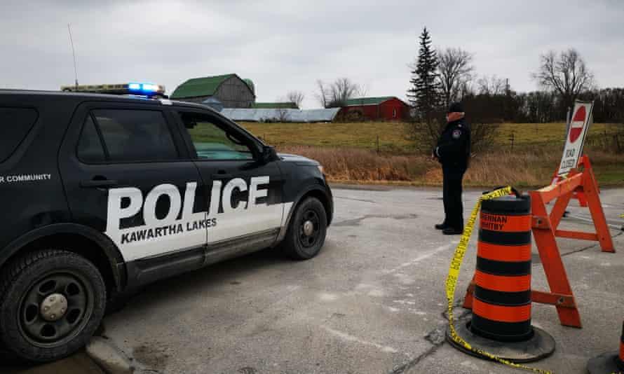Scene of the shooting in Kawartha Lakes, Canada