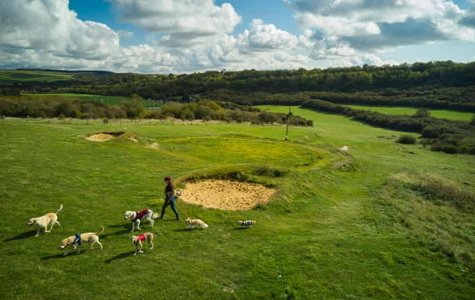 Waterhall golf course in Brighton is one of several around the country that have now closed and are in the process of rewilding