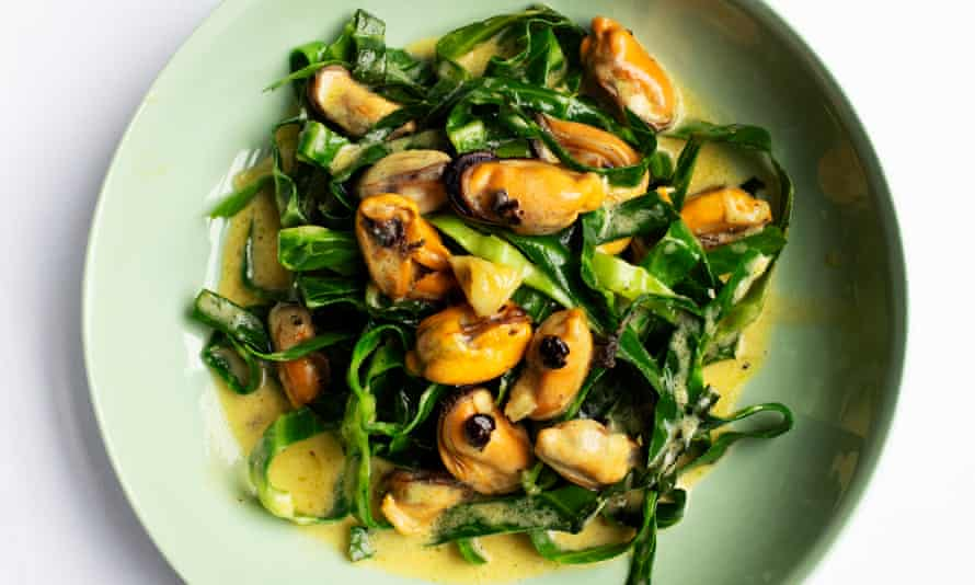 'Cavolo nero about is so good with the sweet mussels': cabbage with mussels.