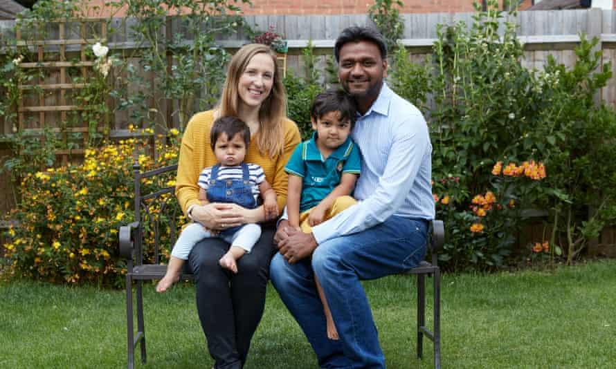 Ulrike Gupta with family.