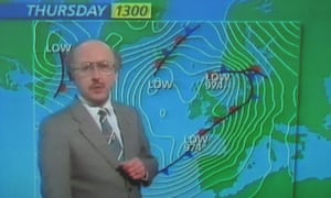 Michael Fish's 1987 weather forecast failing to predict the hurricane.