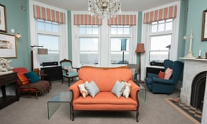 Sea-view sitting room at the Bay Tree hotel, Broadstairs, Kent.