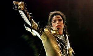 Michael Jackson performs during his HIStory world tour in Vienna, 1997.